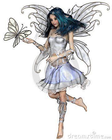 Free Snowflake Butterfly Fairy Stock Images - 62391364