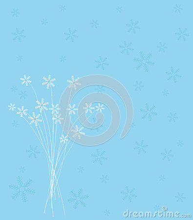 Snowflake Christmas card design