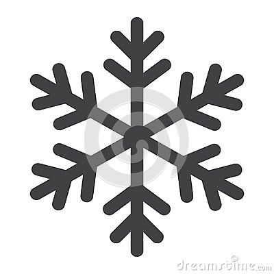 Snowflake glyph icon, New year and Christmas Vector Illustration