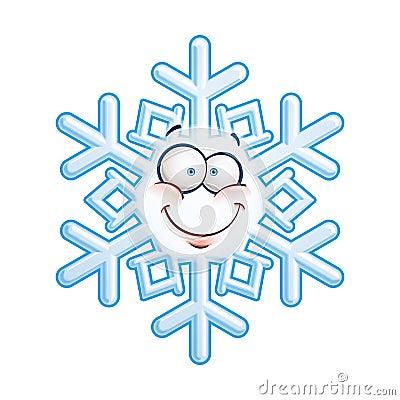 Snowflake Head Smiley Stock Image Image 36396321