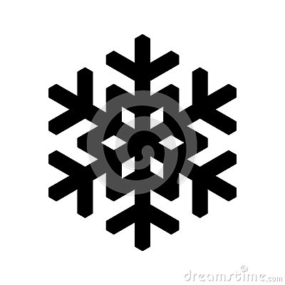 Free Snowflake Icon. Christmas And Winter Theme. Simple Flat Black Illustration On White Background Stock Photo - 100129670
