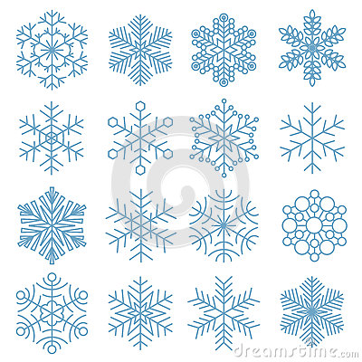 Free Snowflake Icon Collection Royalty Free Stock Image - 85121056