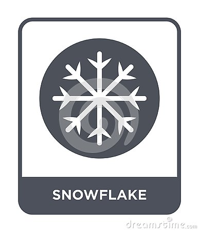 snowflake icon in trendy design style. snowflake icon isolated on white background. snowflake vector icon simple and modern flat Vector Illustration