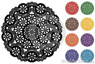 Snowflake Lace Doily, 9 Jewel tones