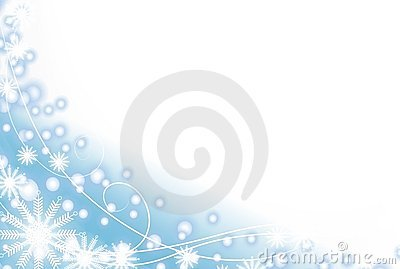 Snowflake and Light Blue Snow