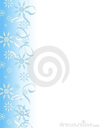 Snowflake Ribbons Border