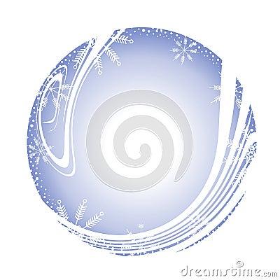 Snowflake Round Frame Border