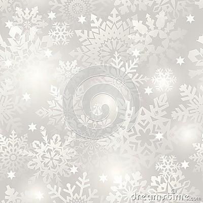 Snowflake seamless background.