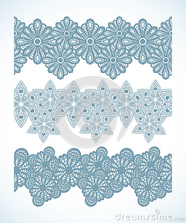 Snowflake Seamless Pattern Border