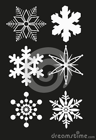 Free SNOWFLAKE SET VECTOR Stock Photography - 58684132
