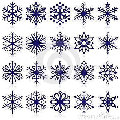 Free Snowflake Shapes Royalty Free Stock Images - 10948549