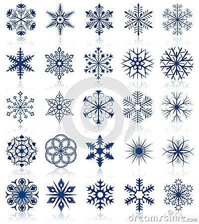 Snowflake shapes set 2