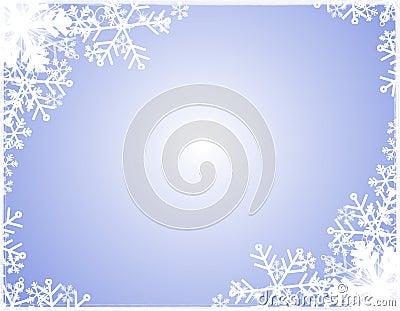 Snowflake Silhouette Border
