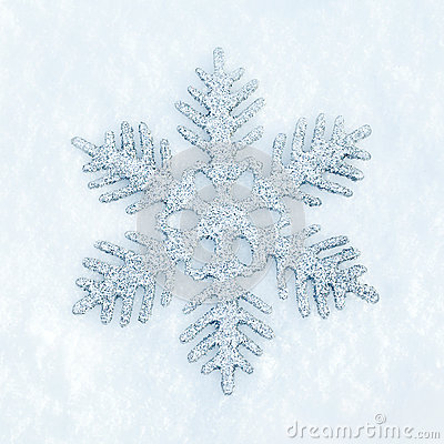 Snowflake in the snow