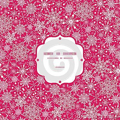 Snowflake Texture Frame Seamless Pattern