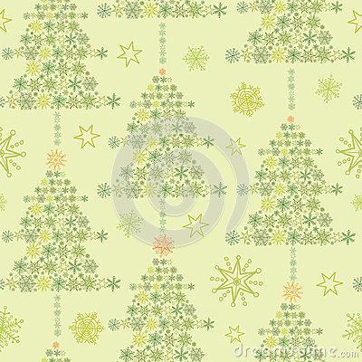 Snowflake Textured Christmas Trees seamless