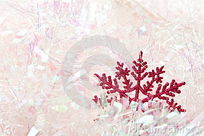 Snowflake in tinsel