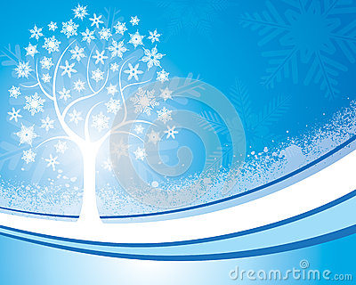 Snowflake Tree Background