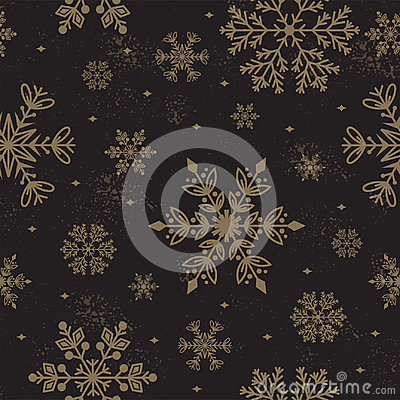 Free Snowflake Vector Seamless Pattern Weather Traditional Winter December Wrapping Paper Christmas Background. Stock Photos - 97080753