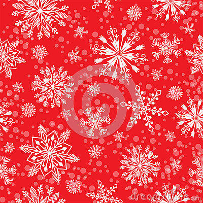 Snowflake vector seamless pattern weather traditional winter december wrapping paper christmas background. Vector Illustration
