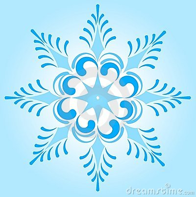 Snowflake winter illustration