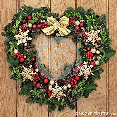 Free Snowflake Wreath Royalty Free Stock Photos - 56521648