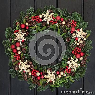 Free Snowflake Wreath Stock Photography - 61350972