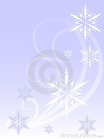 Free Snowflakes And Swirls Stock Photo - 3624530