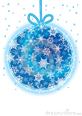 Snowflakes Around Christmas Ball_eps