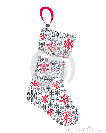 Snowflakes Christmas Sock