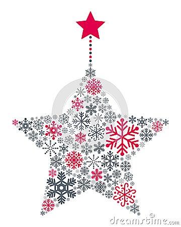 Snowflakes Christmas Star