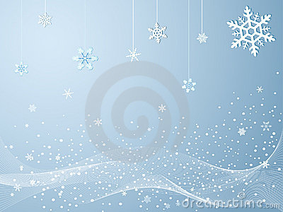 Snowflakes in cold winter