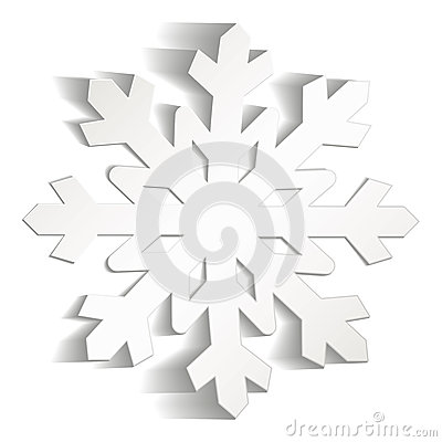 Snowflakes cut from paper