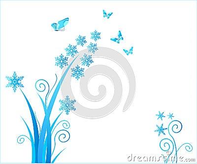 Snowflakes flower / christmas