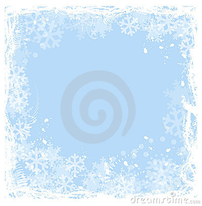 Free Snowflakes Frame Royalty Free Stock Images - 9186609