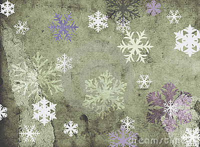 Snowflakes on grungy background