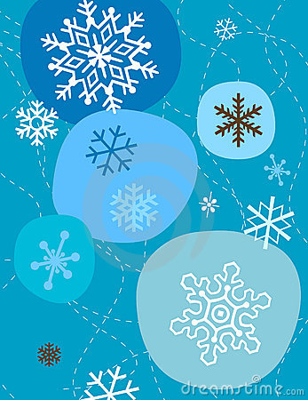 Free Snowflakes In Blue Stock Photography - 45982