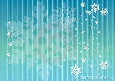 Snowflakes in lines