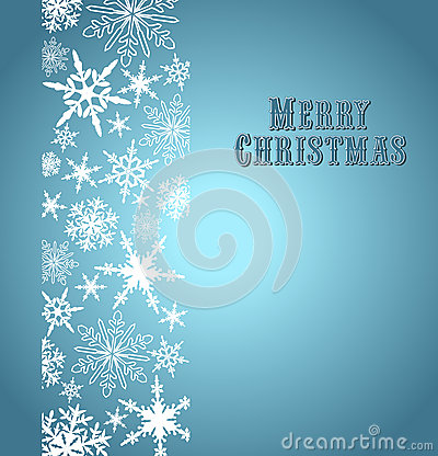 Snowflakes Merry Christmas Card