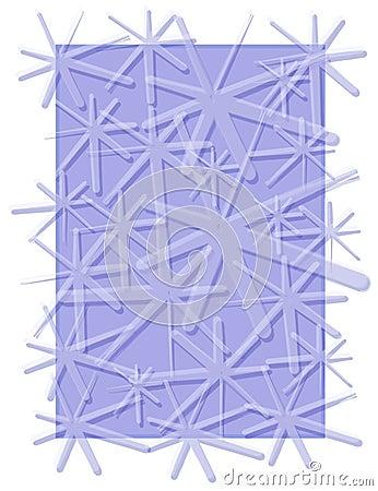 Snowflakes Pattern Winter Blue