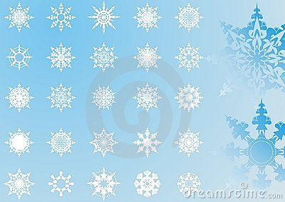 Snowflakes patterns collection(3)