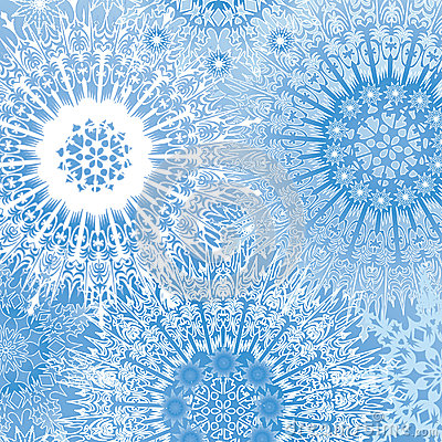 Snowflakes seamless background, snow lacy pattern.