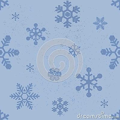 Snowflakes seamless pattern