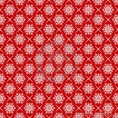 Snowflakes seamlessly pattern.
