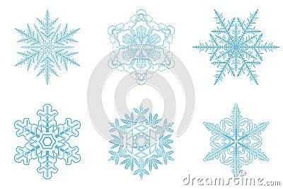 Snowflakes set of 6 pieces