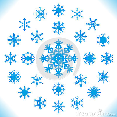 Snowflakes - Set of 25 pieces.