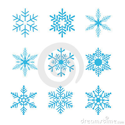 Free Snowflakes Vector Royalty Free Stock Photography - 6348037