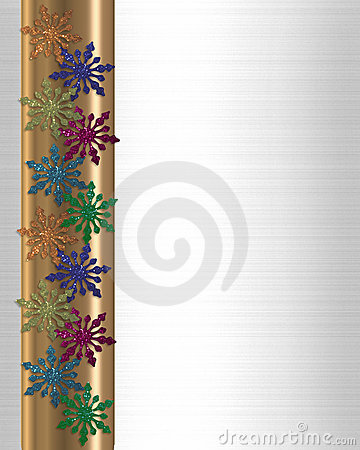 Snowflakes winter border colorful