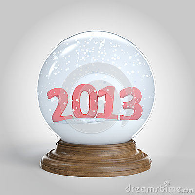 snowglobe with 2013 happy new year