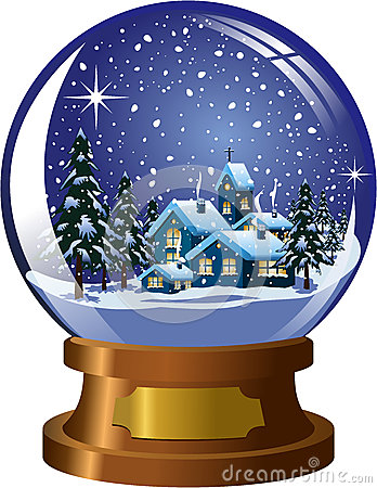 Free Snowglobe Winter Christmas Landscape Stock Photography - 35745652